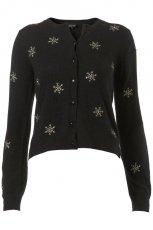czarny sweter Topshop - jesie�/zima 2011/2012