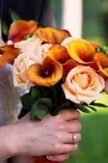 Bukiet z pomara�czowych kwiat�w