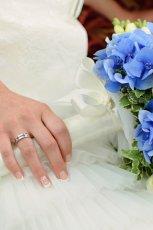 Bukiet z niebieskich kwiat�w