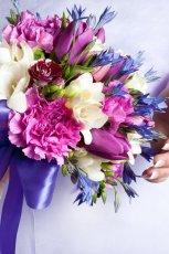 Bukiet �lubny z r�nych kwiat�w