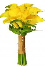 Bukiet �lubny z ��tych kwiat�w