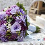 Bukiet z fioletowych kwiat�w