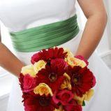Bukiet z gerberami i liliami