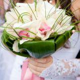 bukiet �lubny z bia�ych kwiat�w i traw