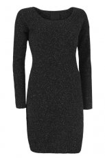 czarna sukienka InWear o��wkowa - moda jesienna