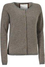 popielaty sweter InWear rozpinany - jesie� 2011