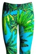 turkusowe legginsy H&M w kwiaty - jesie�/zima 2011/2012