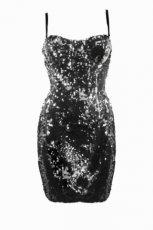 grafitowy sukienka z cekinami - jesie�/zima 2011/2012