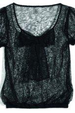 czarny bluzka Orsay z kokard� - jesie�/zima 2011/2012