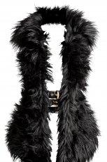 czarny kamizelka H&M Varsace z futerkiem - jesie�/zima 2011/2012