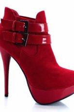 czerwone botki Stylowe buty - jesie�/zima 2011/2012