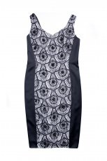 czarna sukienka Aryton z koronk�