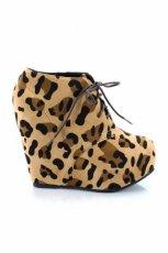 botki Stylowe buty w panterk� - jesie�/zima 2011/2012