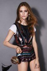 kolorowe szorty Topshop z cekinami - moda 2011