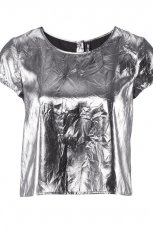 srebrna bluzka H&M - jesie� 2011