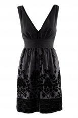 czarna sukienka wieczorowa H&M z aplikacj� - jesie�/zima 2011/2012