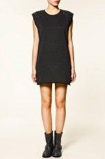 czarna sukienka ZARA mini - zima 2011/2012