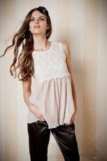 ecru bluzka Orsay z koronk� - trendy na jesie�-zim�