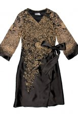 czarna sukienka Aryton we wzory - zima 2011/2012