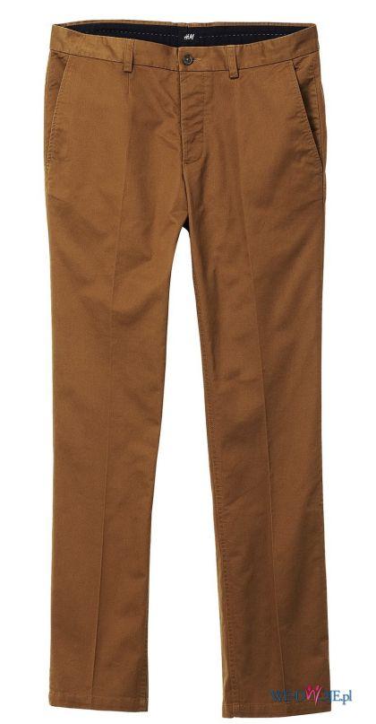 br�zowe spodnie H&M - wiosna 2012