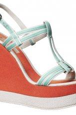 pomara�czowe sanda�y H&M na koturnie - wiosna/lato 2012