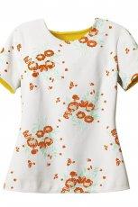 pomara�czowa bluzka H&M w kwiaty - wiosna/lato 2012
