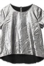 srebrna bluzka H&M z kr�tkim r�kawem - wiosna/lato 2012