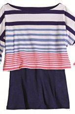 kolorowa bluzka Orsay w paski dwuwarstwowa - wiosna/lato 2012