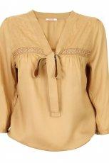 be�owa bluzka Camaieu z kokard� - wiosna/lato 2012