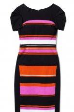 kolorowa sukienka DanHen w pasy - wiosna/lato 2012