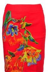 czerwona sp�dnica Solar w kwiaty - z kolekcji wiosna-lato 2012