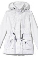 bia�a kurtka Reserved z kapturem - letnia kolekcja