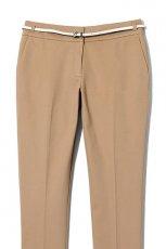 br�zowe spodnie Reserved z paskiem - z kolekcji wiosna-lato 2012