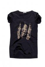 czarna koszulka Big Star z aplikacj� - z kolekcji wiosna-lato 2012