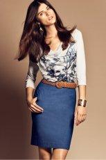 granatowa sp�dnica H&M - trendy wiosenne