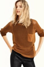 br�zowy sweter H&M - sezon wiosenny