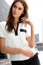 bia�a bluzka H&M - wiosna-lato 2012