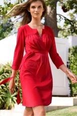 czerwona sukienka H&M - kolekcja na lato