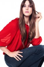 czerwona bluzka H&M - kolekcja wiosenno/letnia