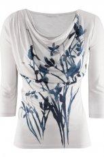 bia�a bluzka H&M z nadrukiem - wiosna/lato 2012