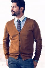 br�zowy sweter H&M - wiosna-lato 2012