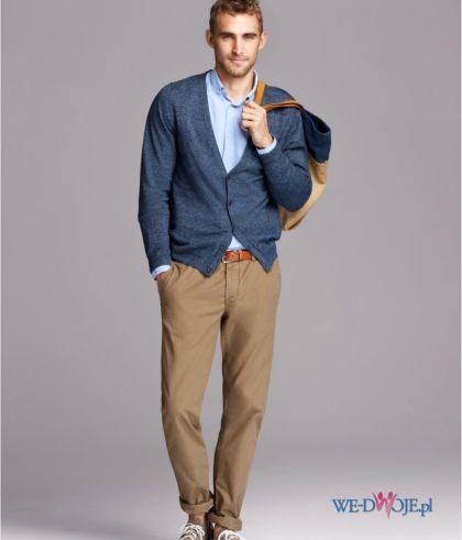br�zowe spodnie H&M - moda wiosna/lato