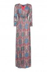 fioletowa sukienka Mango we wzory - kolekcja wiosenno/letnia