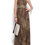 br�zowa sukienka Mango w panterk� - moda 2012