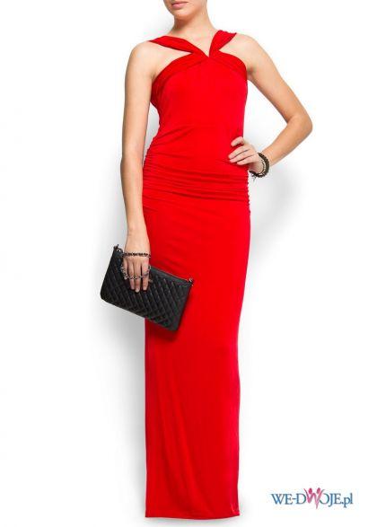 czerwona suknia Mango - trendy wiosenne