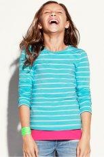 turkusowa bluzka H&M w paski - wiosenna kolekcja