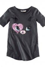 grafitowa bluzeczka H&M z nadrukiem - kolekcja na lato