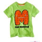 zielony t-shirt H&M z nadrukiem - kolekcja wiosenno/letnia