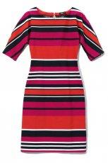 kolorowa sukienka Midori w paski - sezon wiosenno-letni