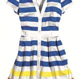 foto 1 - Ubrania i dodatki w kolorowe paski na wiosnę i lato 2012